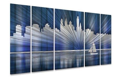 Cool Philadelphia Skyline - Metal Wall Art Decor - Ash Carl Designs