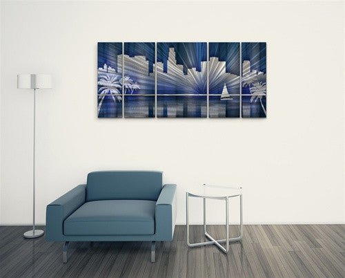 Cool Los Angeles Skyline - Layer Panel Art Room Furnishing - Ash Carl Designs
