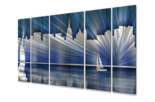 Cool New York City Skyline - Metal Wall Art Sculpture - Ash Carl Designs