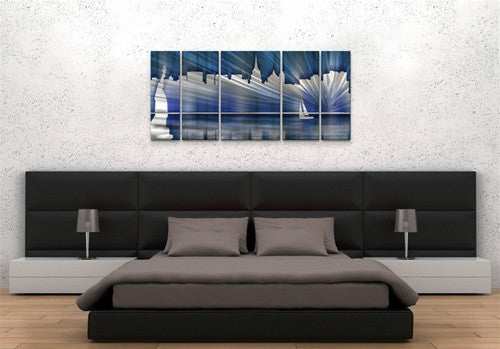 Cool New York City Skyline - Metal Wall Art Room Furnishing - Ash Carl Designs
