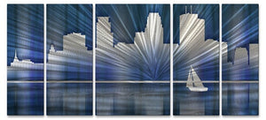 Cool Minneapolis Skyline - Metal Wall Art Decor - Ash Carl Designs