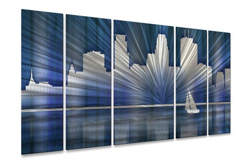 Cool Minneapolis Skyline - Contemporary Metal Wall Hanging - Ash Carl Designs