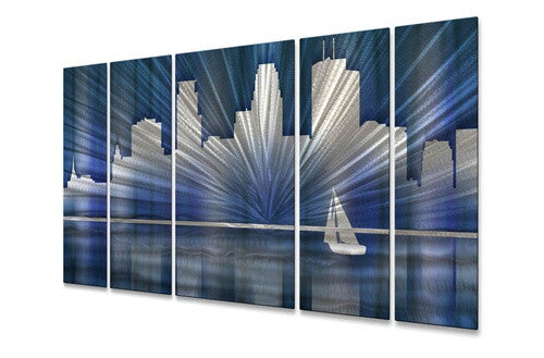 Cool Minneapolis Skyline - Metal Wall Art Sculpture - Ash Carl Designs