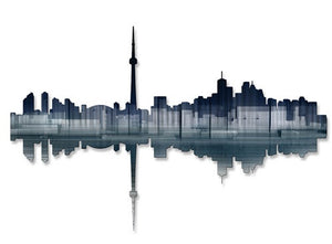 Toronto Reflection - Metal Wall Art Decor - Ash Carl Designs