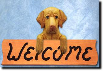 Vizsla Dog Wood Welcome Sign
