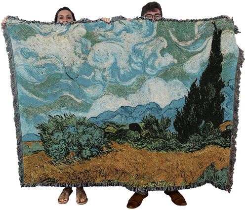 Cypress by Van Gogh Blanket Throw Blanket