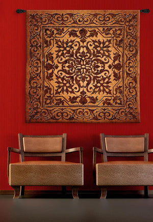 Iron Work Brown Tapestries