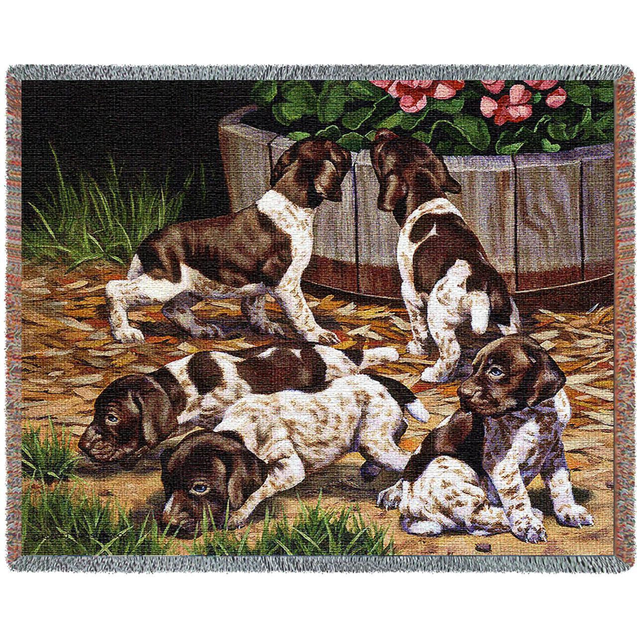 Brown Springer Woven Tapestry Blanket