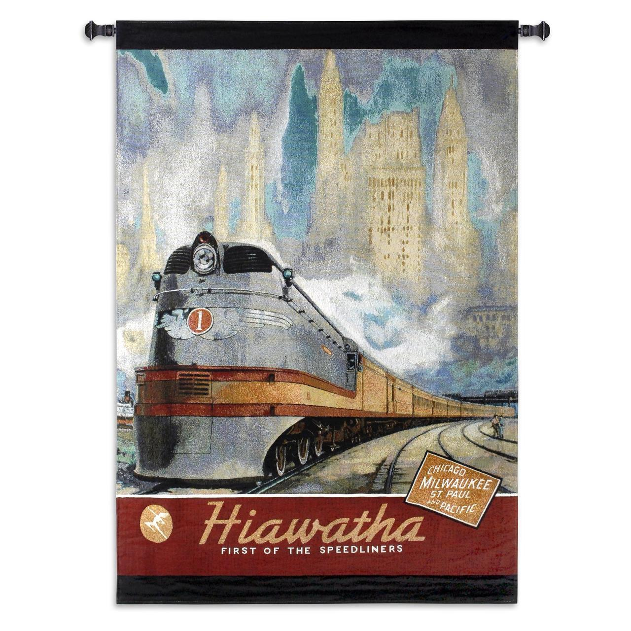 Hiawatha Snow Train Textile Wall Hanging