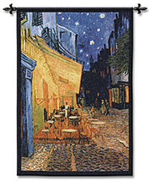 Cafe Terrace at Night Textile Decor