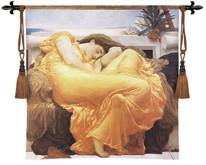 Flaming June by Leighton Woven tapestries