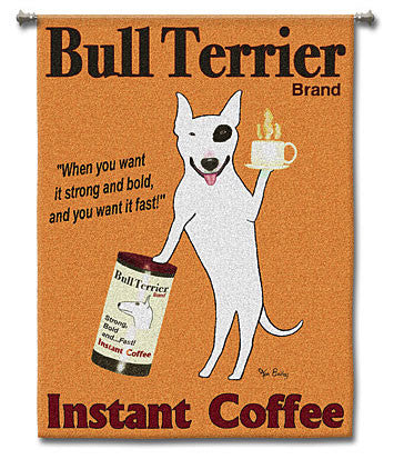 Bull Terrier Coffee Wall Hanging