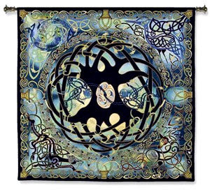 Celtic Tree of Life Woven Tapestry