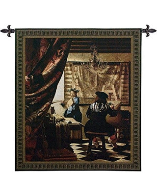 Artists Studio by Vermeer tapestries