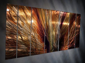 Extreme Blaze Contemporary Modern Metal Wall Art