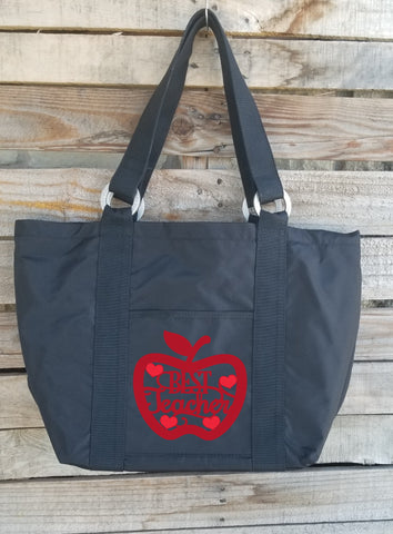 Teacher Tote - Best Teacher Apple