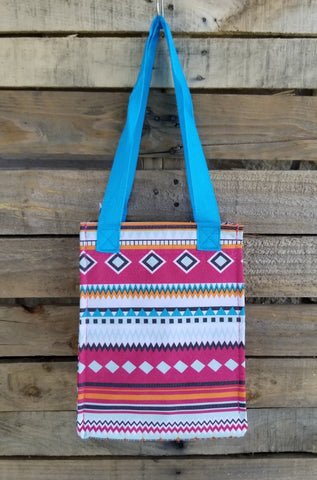 Lunch Bag-Pink Aztec
