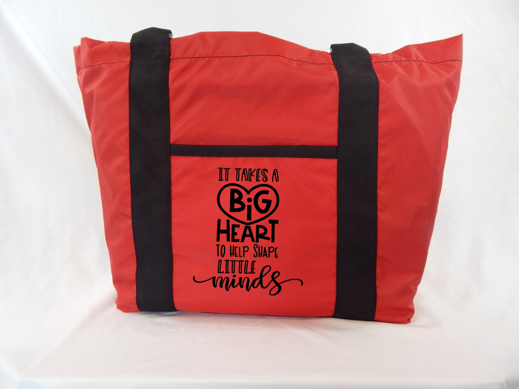 Teacher Tote - It Takes a Big Heart to Help