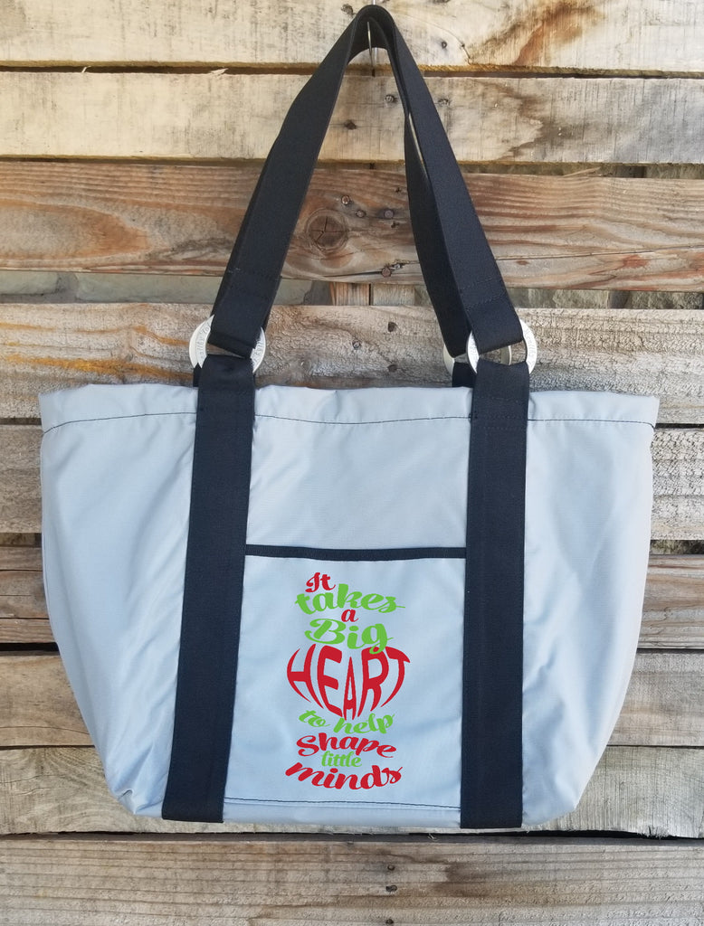 Teacher Tote - It Takes a Big Heart to Help-2