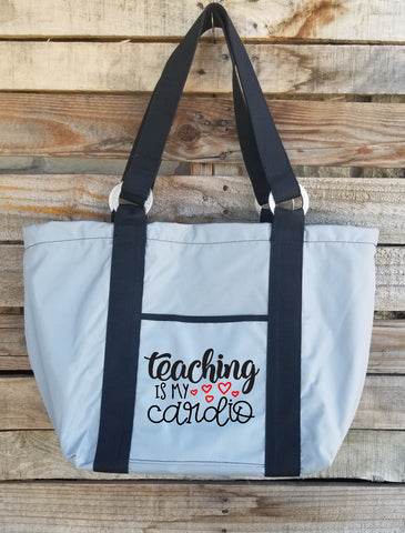 Teacher Tote - Teaching Is My Cardio