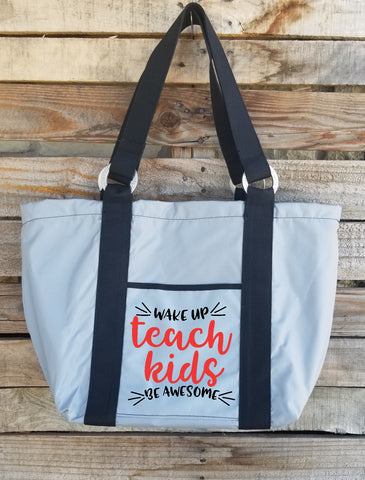 Teacher Tote - Wake Up Teach Kids
