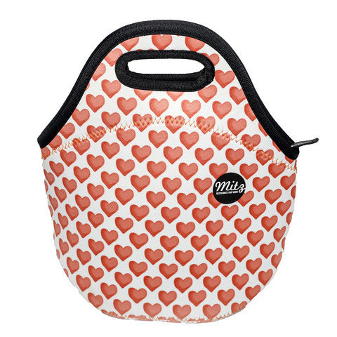 Lunch Bag-Neoprene-Hearts