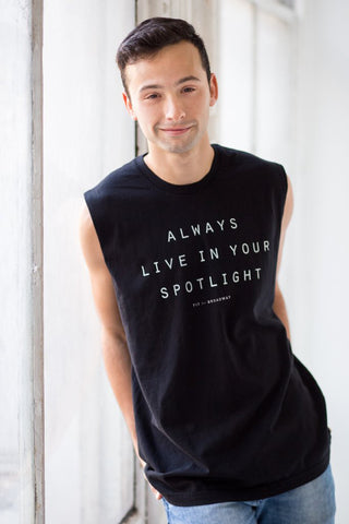 """Live In Your Spotlight"" Unisex Tank (Black)"