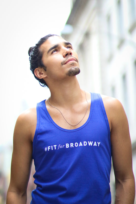 """Fit For Broadway"" Tank (Blue)"