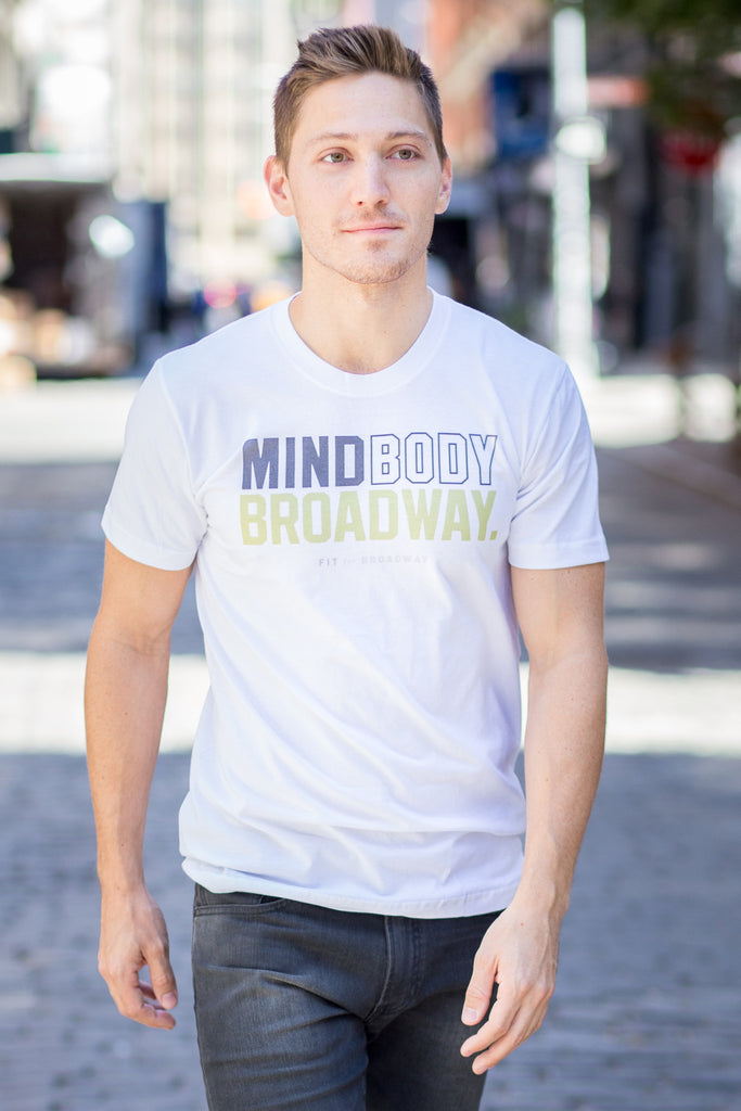 """Mind, Body, Broadway"" Men's Tee (White)"
