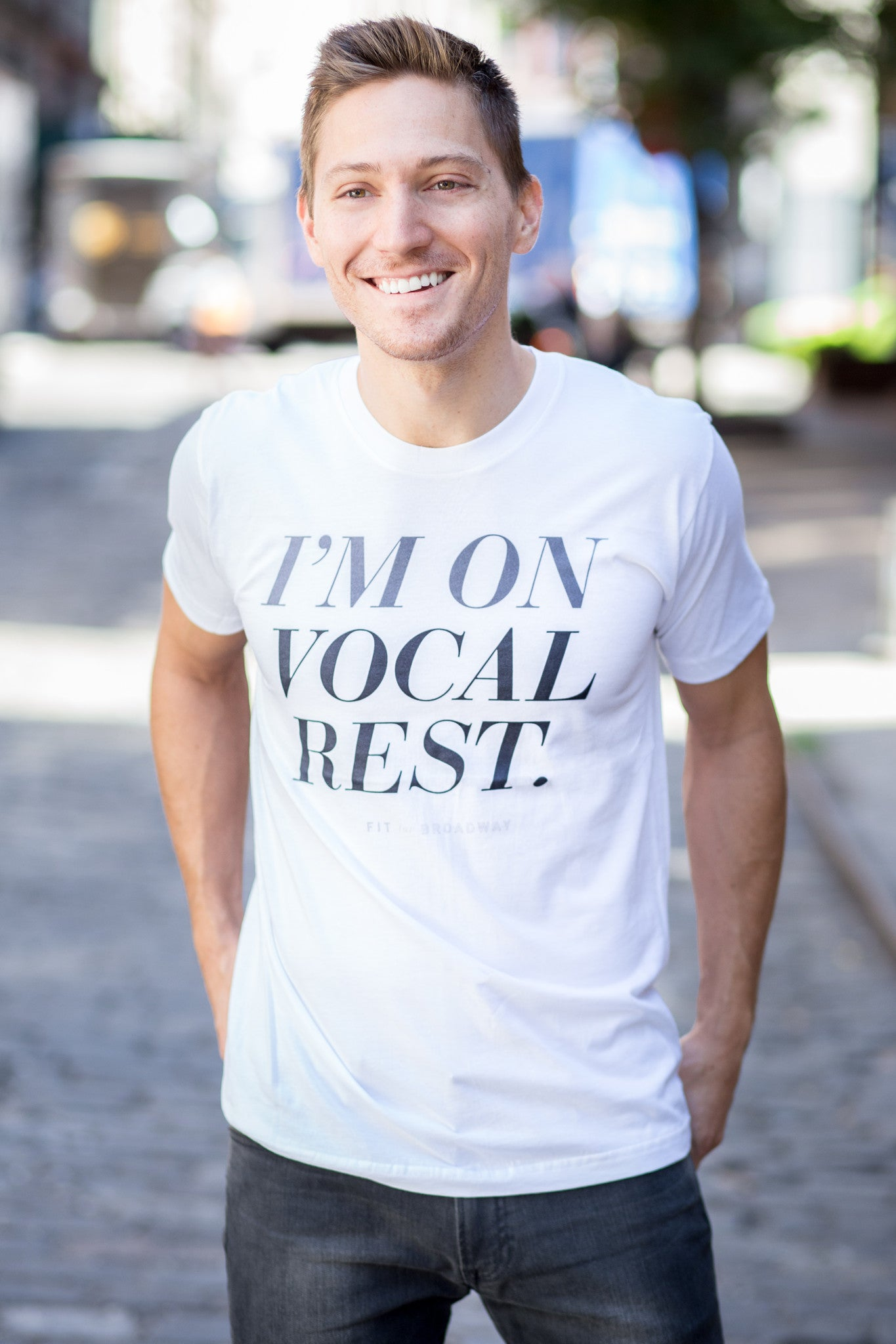 """I'm On Vocal Rest"" Men's Tee (White)"