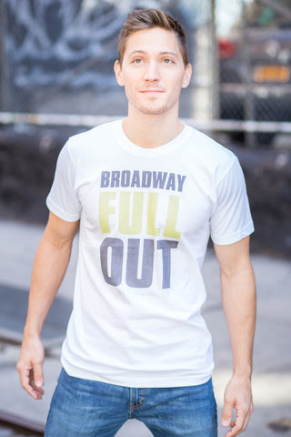 """Broadway Full Out"" Men's Tee (White)"