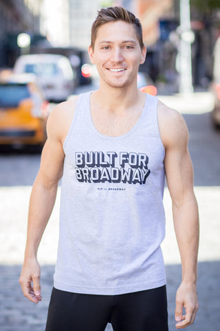 """Built For Broadway"" Men's Tank (Grey)"