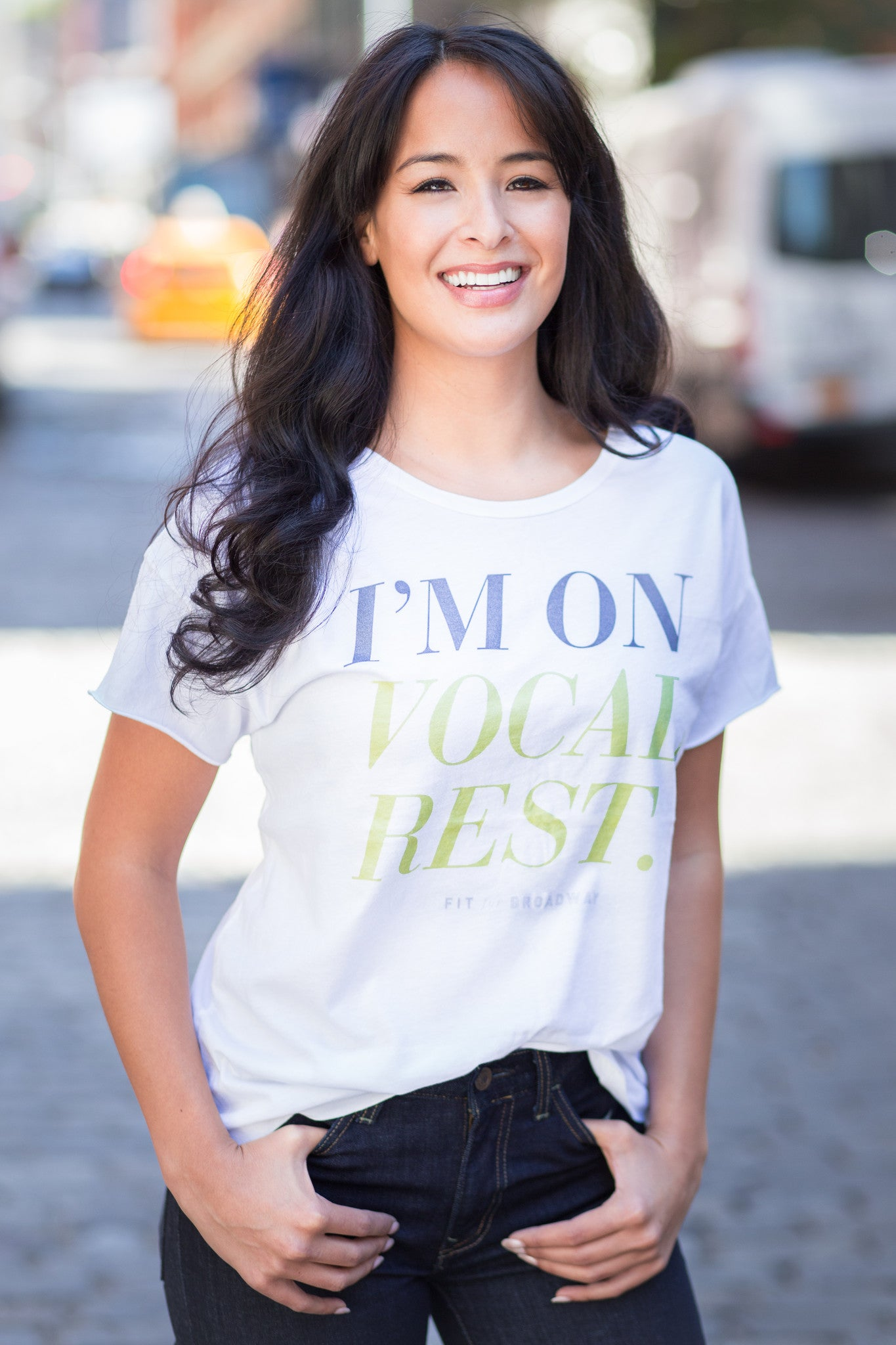 """I'm On Vocal Rest"" Women's Rocker Tee (White)"