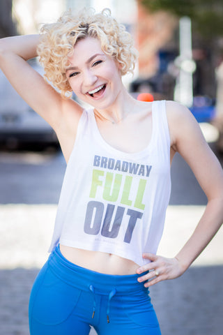 """Broadway Full Out"" Women's Crop (White)"