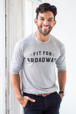 """Fit for Broadway"" Men's Pullover (Grey)"