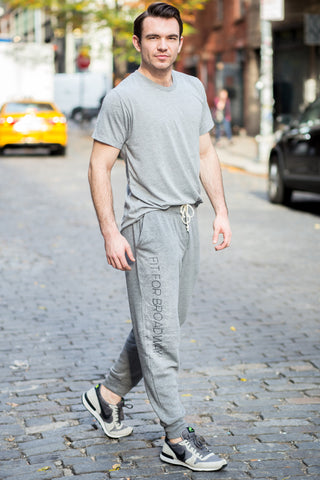 """Fit For Broadway"" Men's Sweatpants (Grey)"