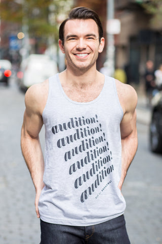 """Audition, Audition, Audition..."" Men's Tank Top (Grey)"