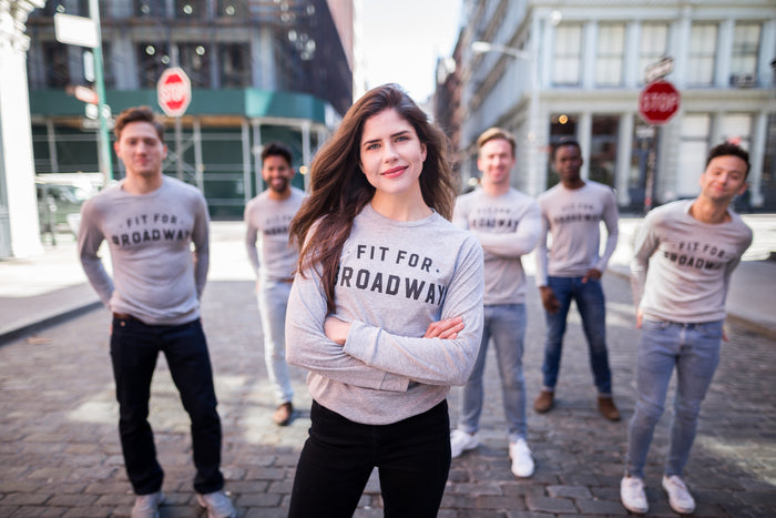 "The ""Fit for Broadway"" Star Women's Pullover (Grey)"