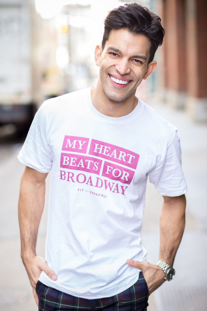 """Beats for Broadway"" Men's Tee (White)"