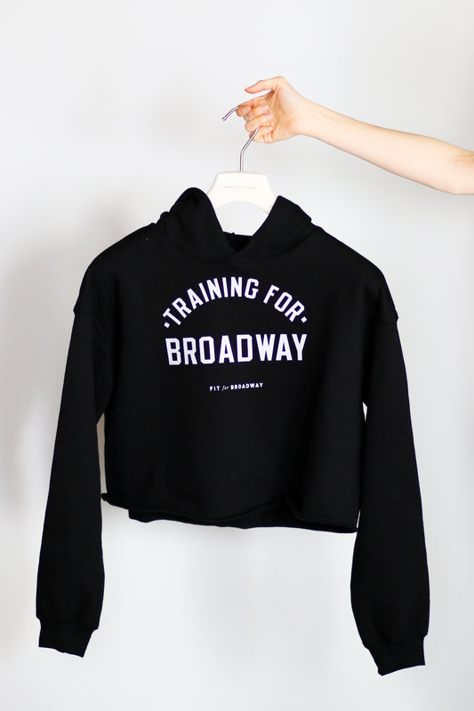 """Training for Broadway"" Cropped Fleece (Black)"