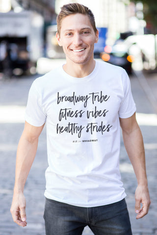 """Broadway Tribe"" Men's Tee (White)"