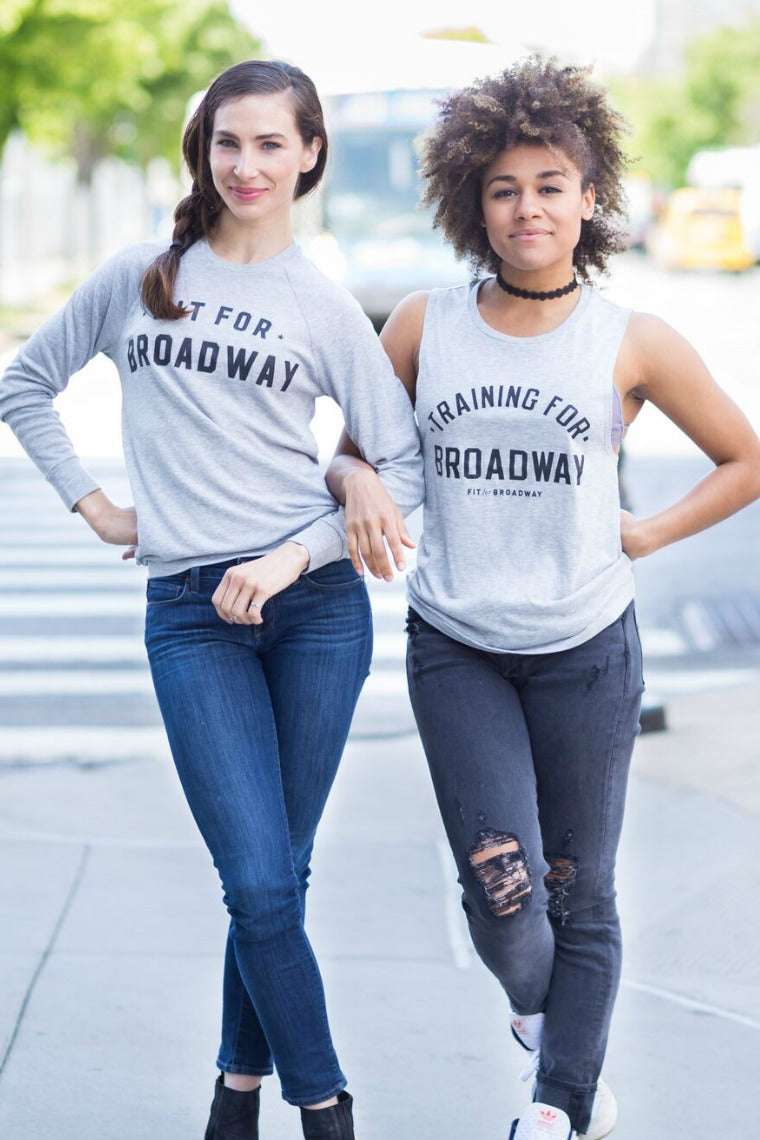 """Training For Broadway"" Women's Tank (Grey)"