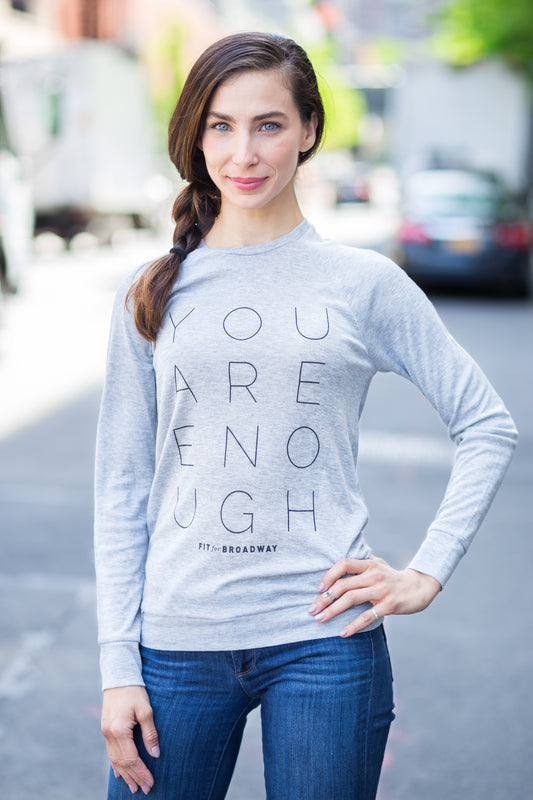 """You Are Enough"" Women's Pullover (Grey)"