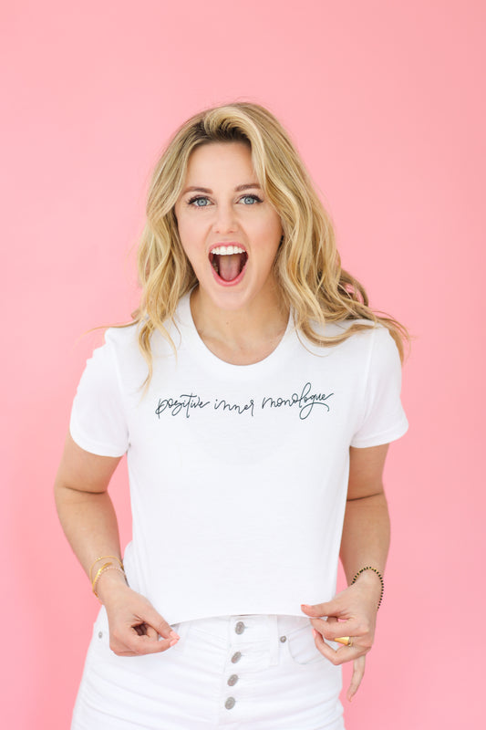Positive Inner Monologue Fitted Cropped Tee (FFB X Taylor Louderman)