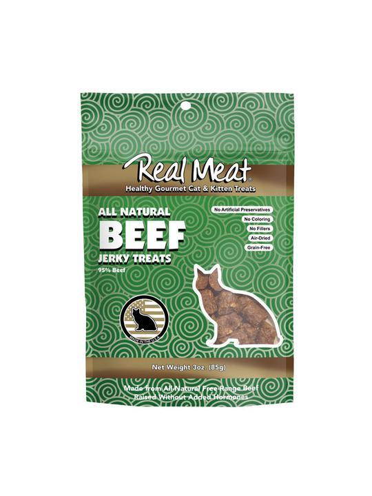 Real Meat Beef Jerky Treats for Cats