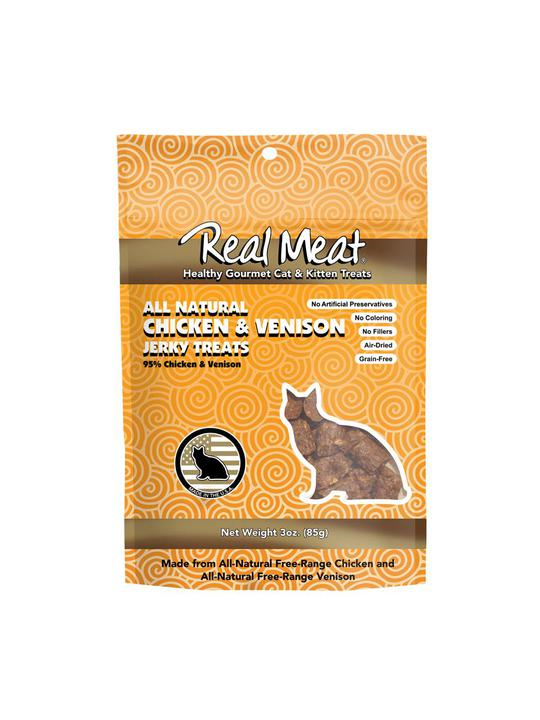 Real Meat Chicken & Venison Jerky Treats for Cats