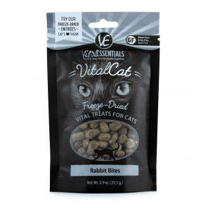 Vital Essentials Freeze-Dried Rabbit Bite Treats for Cats