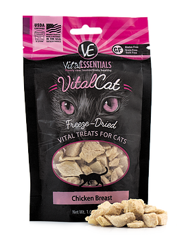 Vital Essentials Freeze-Dried Chicken Treats for Cats
