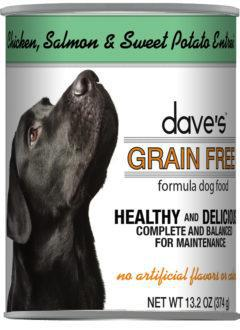 Dave's Grain Free Chicken, Salmon & Sweet Potato Entrée Canned Dog Food