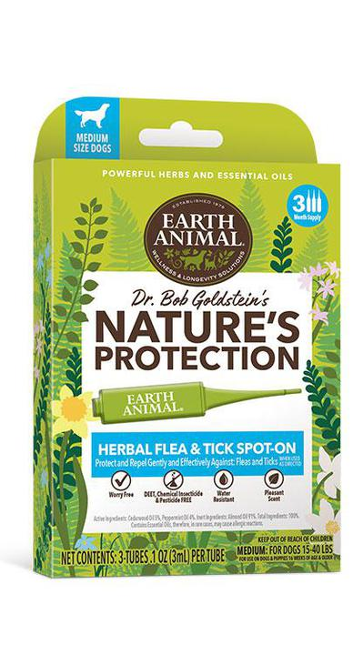 Earth Animal Herbal Flea & Tick Spot On for Dogs